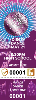 Disco Dance Tickets with Security Features