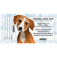 Dog Rescue Raffle Tickets
