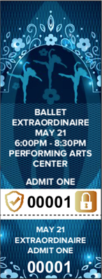 Ballet Tickets with Security Features