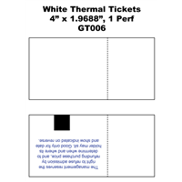 "White Thermal Tickets - 2"" x 4"" / 1 Perf"
