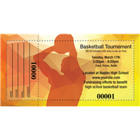 Basketball Raffle Tickets