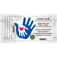 Lions Club Raffle Tickets