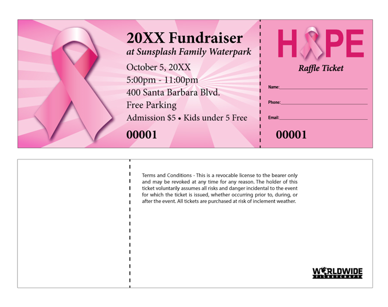 i support breast cancer raffle tickets