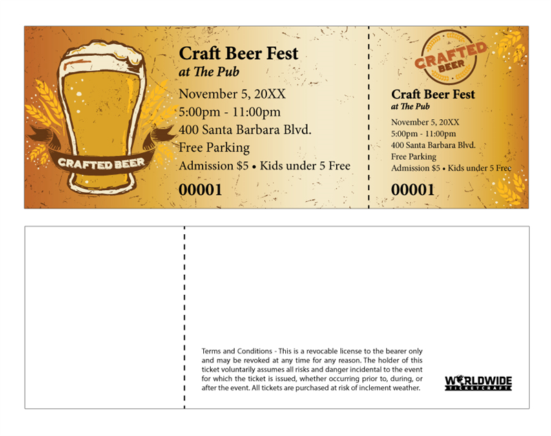 coat check tickets template - buy tickets for craft brewery