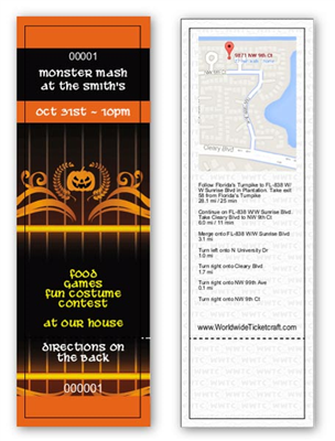 Design It Yourself GA Halloween Themed Tickets