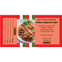 Spaghetti Dinner Raffle Tickets
