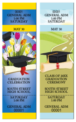 Design It Yourself GA Graduation Themed Tickets