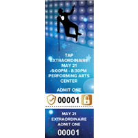 Tap Dance Tickets with Security Features