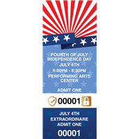 Fourth of July Tickets with Security Features