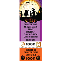Halloween Tickets with Security Features