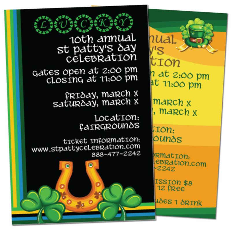 Printing Manufacturer of St Patricks Day Tickets