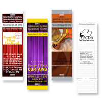 Design It Yourself Full Color Vertical Tickets GA