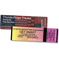Design It Yourself Horizontal Tickets - RSVD Seat