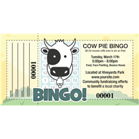 Cow Pie Bingo Raffle Tickets