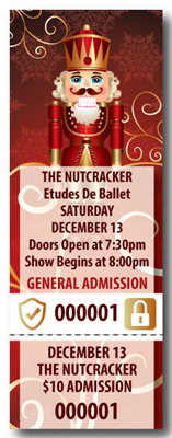 Nutcracker Ballet Tickets with Security Features