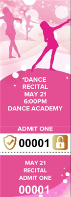 Dance Recital Tickets with Security Features