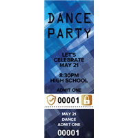 High School Dance Tickets with Security Features