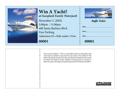 Yacht Raffle Tickets