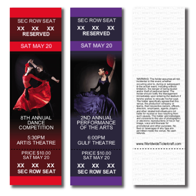 Reserved Seating Dance Competition Tickets