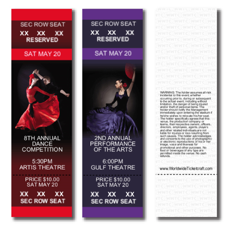 Design Full Color Reserved Seating Dance Competition themed Event ...