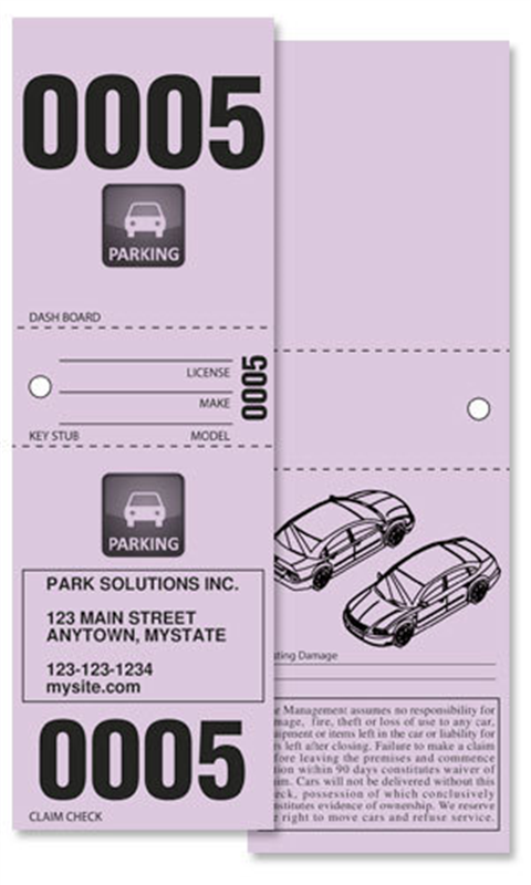 95 Valet Ticket Template