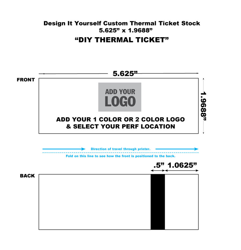 Ticket Master Generic Thermal Tickets