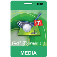 Golf Credentials with Lanyards