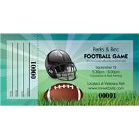 Football Raffle Tickets