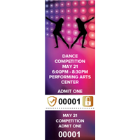 Dance Competition Tickets with Security Features