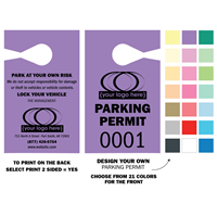 "DIY Paper Parking Hang Tags - Medium 3.67"" x 6"""