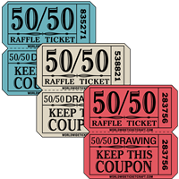 Tickets Penny Sale//Tricky Tray Made in USA  FREE Shipping 500 Chinese Auction
