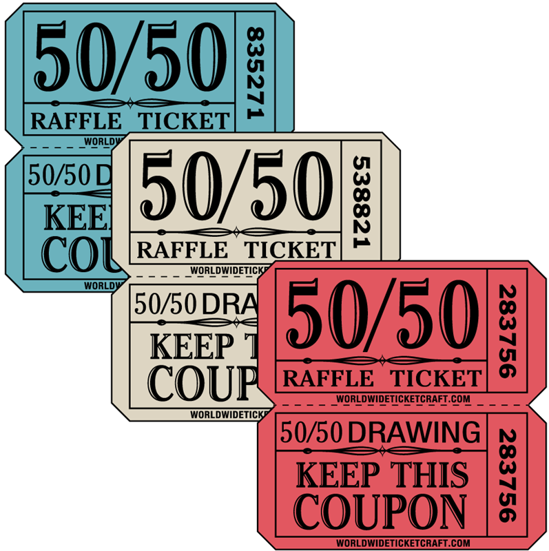 buy raffle tickets for a 50 50 drawing fundraiser