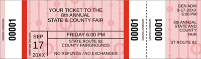 DIY General Admission Fair Ticket