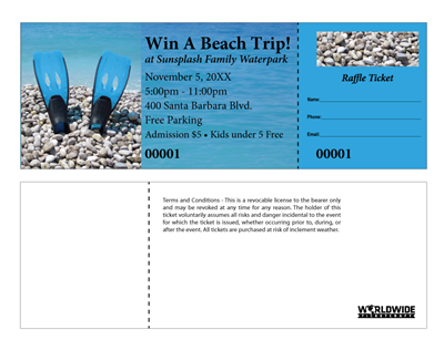 Beach Raffle Tickets