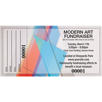 Modern Art Raffle Tickets