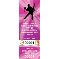 Swing Dance Tickets with Security Features