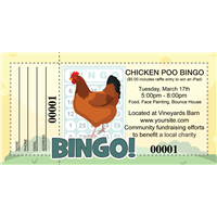 Chicken Poo Bingo Raffle Tickets