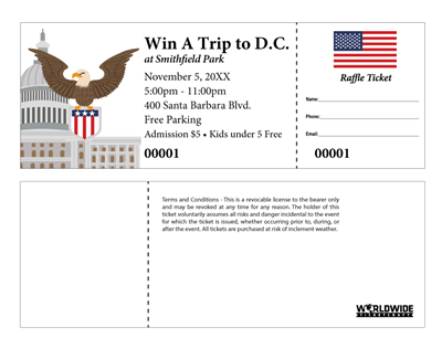 Political Raffle Tickets