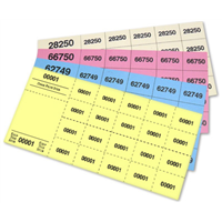 Chinese Raffle Tickets - 20 Tickets Per Sheet