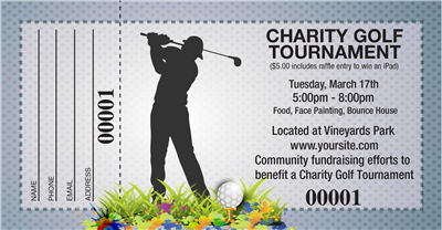 Charity Golf Raffle Tickets