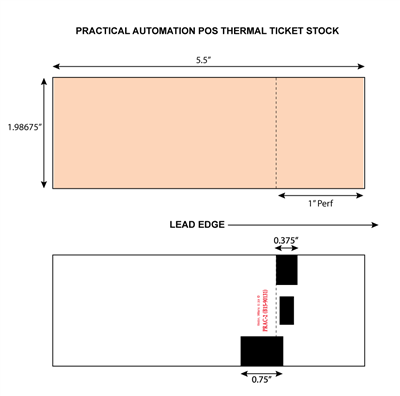 Practical Automation POS Thermal Ticket Stock