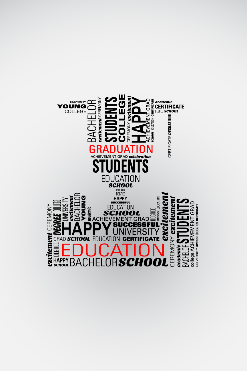 Graduate word cloud poster